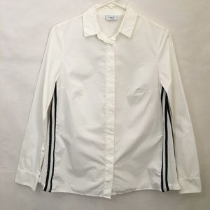 AKRIS Punto White Long Sleeve Button Down Blouse